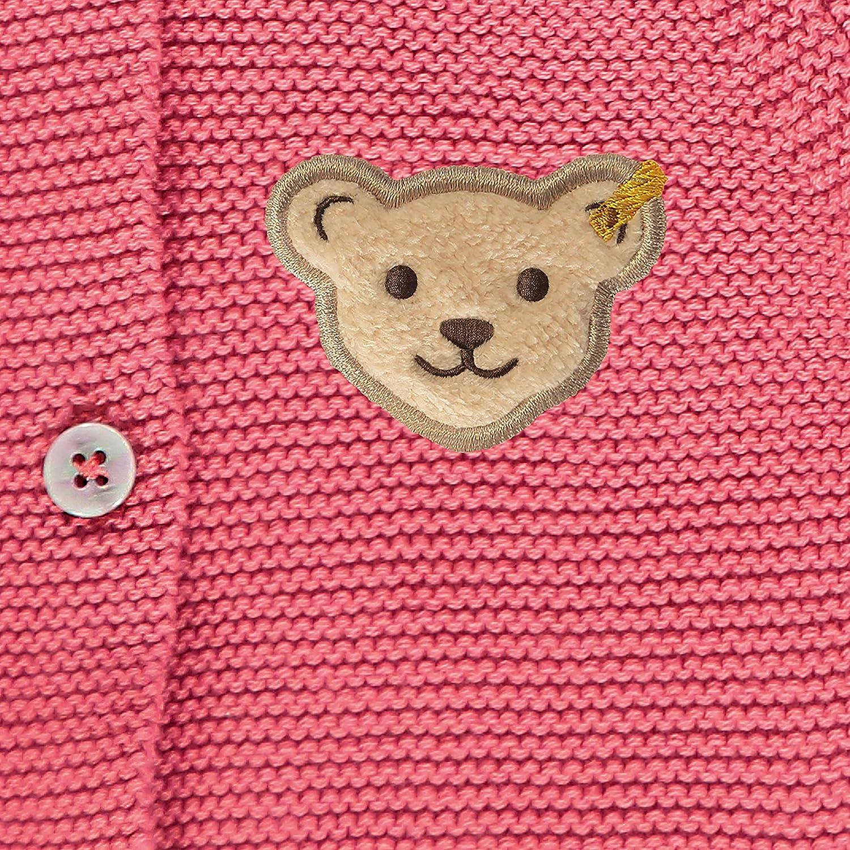 Steiff Baby-M/ädchen Mit Teddyb/ärmotiv Strickjacke