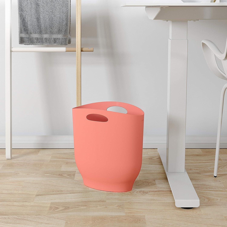 Lagoon Blue Umbra Harlo Sleek /& Stylish Bathroom Trash 2.4 Gallon Capacity Small Garbage Can Wastebasket for Narrow Spaces at Home or Office
