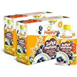 Happy Tot Organic Stage 4 Super Morning Organic Bananas Blueberries Yogurt & Oats + Super Chia, 4 Ounce Pouch (Pack of 8…
