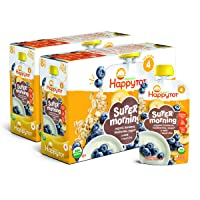 Happy Tot Organic Stage 4 Super Morning Organic Bananas Blueberries Yogurt & Oats...