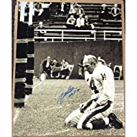 Y.A. YA Tittle NY Giants Agony of Defeat signed 16x20 photo STEINER autographed photo
