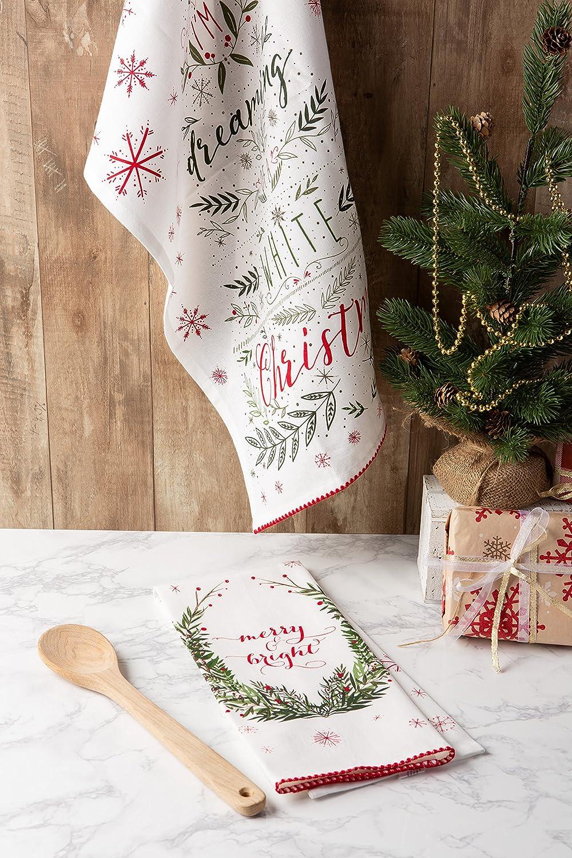 DII Toalla decorativa de algodón con diseño navideño (18 x 28 cm): Amazon.es: Hogar