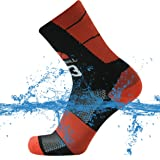 SuMade 100% Waterproof Socks, Unisex Men Women Breathable Dry Fit Moisture Wicking Hiking Cycling Crew Socks