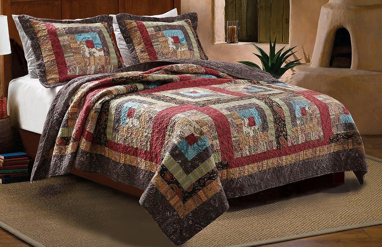 2-Piece Colorado Cabin Quilt Set, Twin