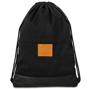 8ff1c3cfb0469 I m a Bearliner - Handmade Turnbeutel Rucksack mit Innentasche aus  hochwertigem Baumwoll-Canvas