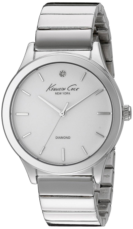 Kenneth Cole New York Women's 10024370 Genuine Diamond Analog Display Japanese Quartz Silver Watch: Kenneth Cole