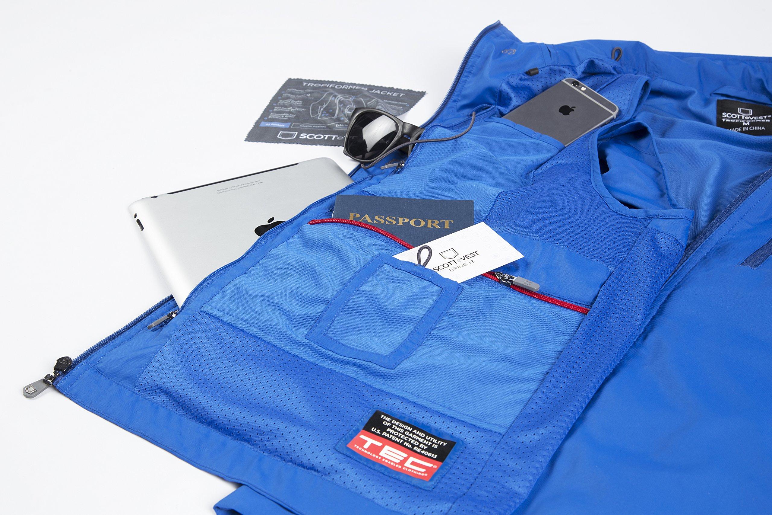 SCOTTeVEST Tropiformer Jacket - 22 Pockets – Convertible, Travel Clothing RED L by SCOTTeVEST (Image #4)