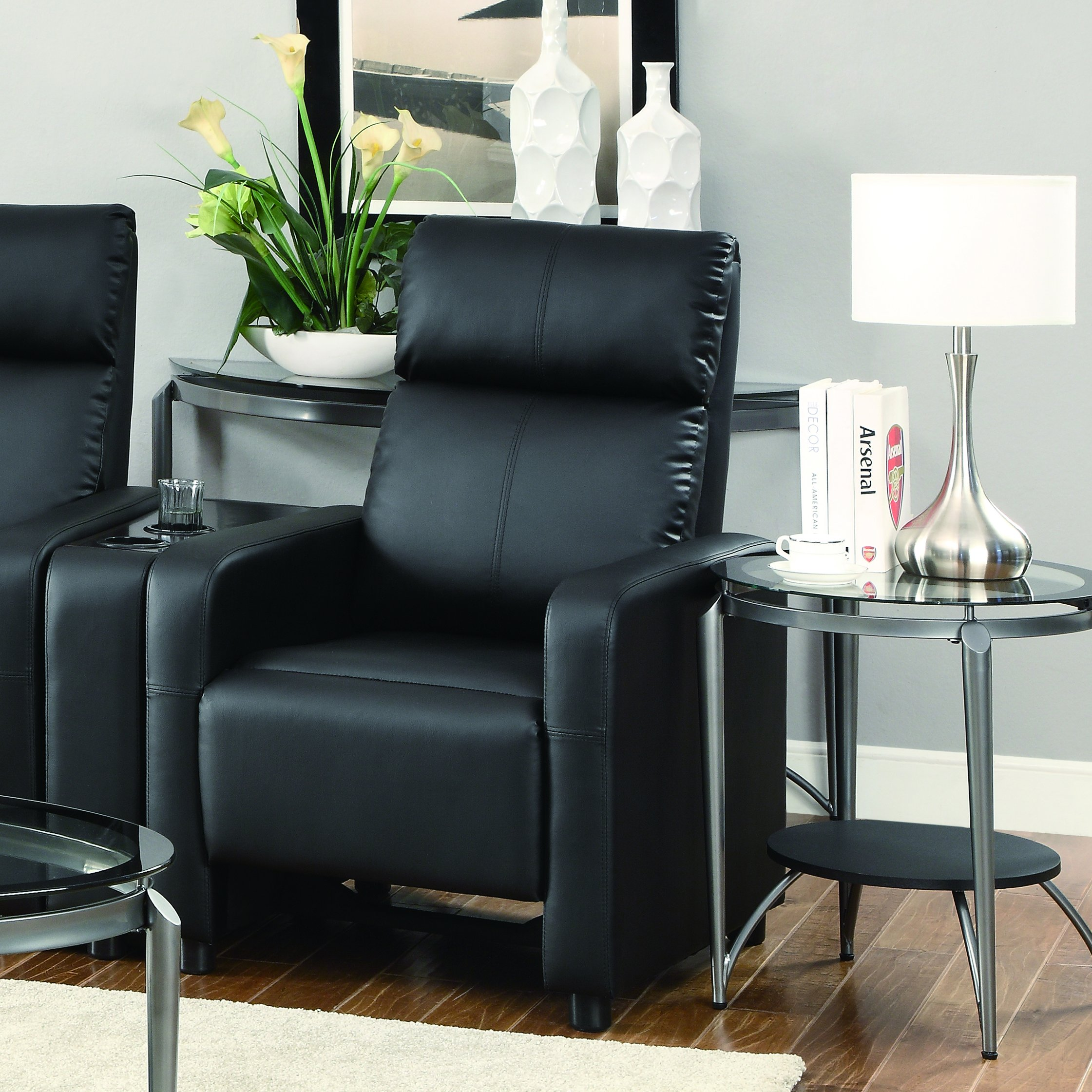 Coaster Home Furnishings Toohey Home Theater Push Back Recliner Black