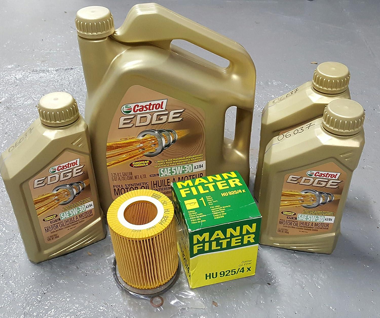 Amazon Com 01 06 Bmw X5 3 0 E53 3 0l M54 Oil Change Kit W Castrol