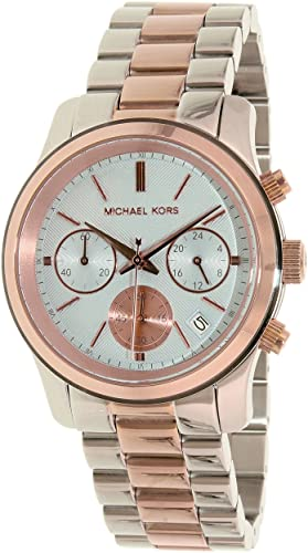 51b8dae7ab27 Image Unavailable. Image not available for. Colour  Michael Kors MK6166 Two  Tone Stainless Steel Women s Watch