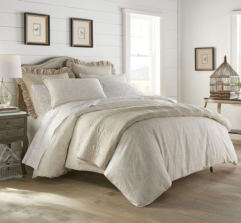 Stone Cottage Florence 100% Cozy Cotton-Duvet Cover Set, King, Natural