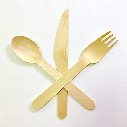 Desechables cubertería | respetuoso con el medio ambiente de madera, Biodegradable, sostenible utensilios de