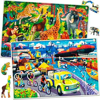 Toddler Jigsaw Puzzle for Kids Animals 37 Pcs Three Animals Toy