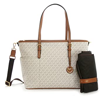 cb01ef184 Amazon.com : Michael Kors Jet Set Item Baby Diaper Tote Bag Vanilla : Baby