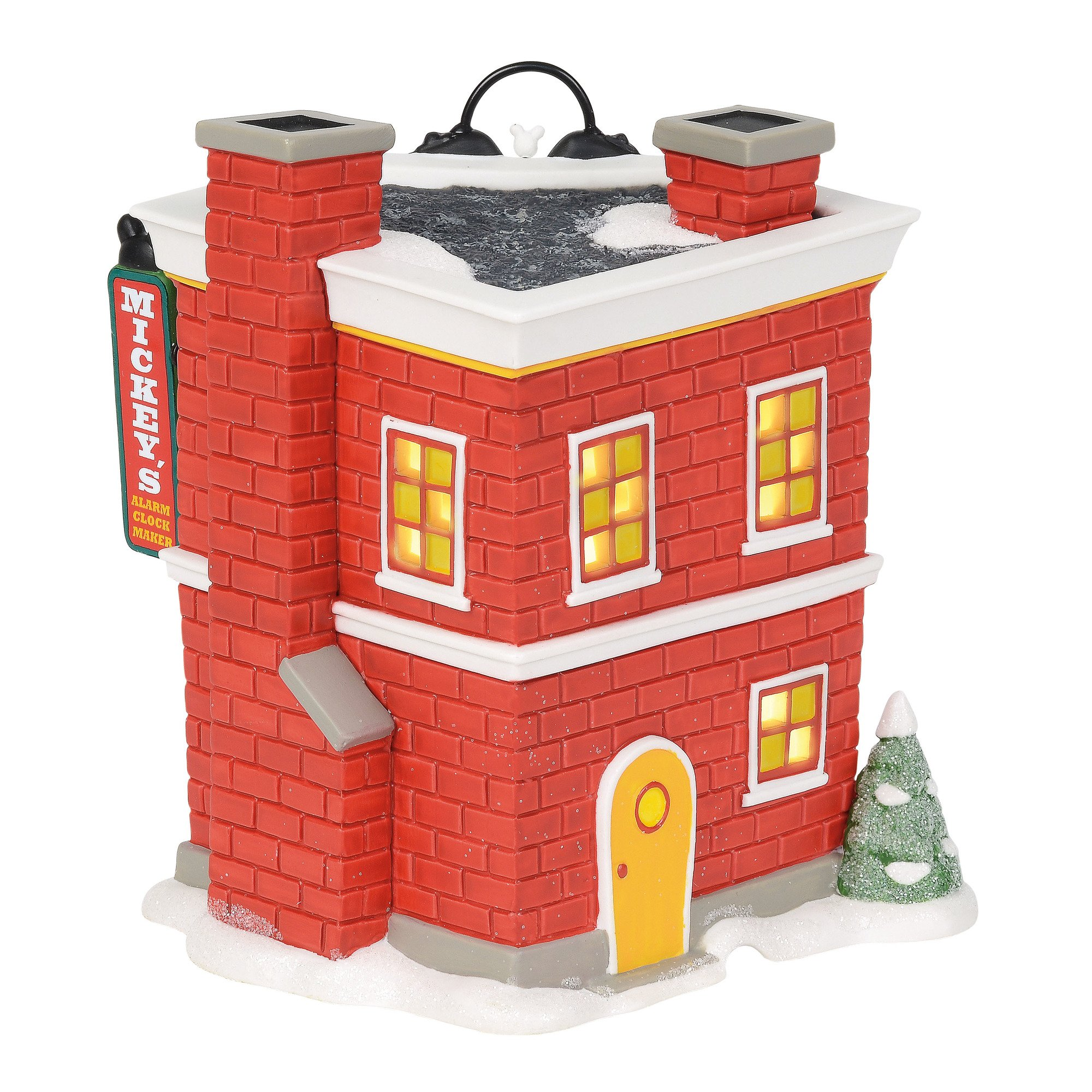 Department 56 Disney Village Mickey's Alarm Clock Shop Lit Building, Multicolor