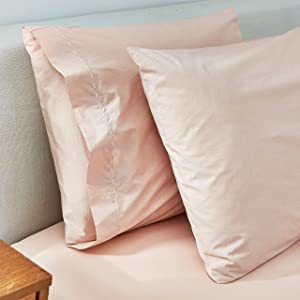 Splendid Home Washed Percale Sheet Pillowcases, Standard, Pink Beige