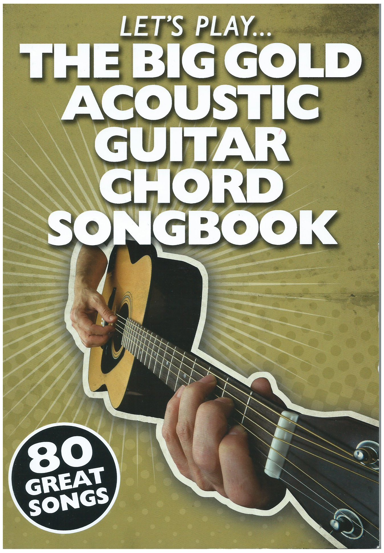 Lets Play E Big Gold Acoustic Guitar Chord Song Book Lets Play