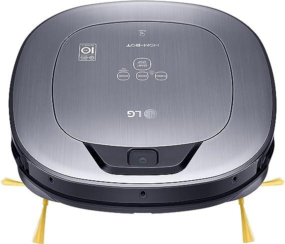 LG VR65710LVMP Hombot Turbo Serie 10 - robot aspirador programable con doble cámara, para casas con mascotas, niños y alfombras, color rojo: 394.02: Amazon.es: Hogar
