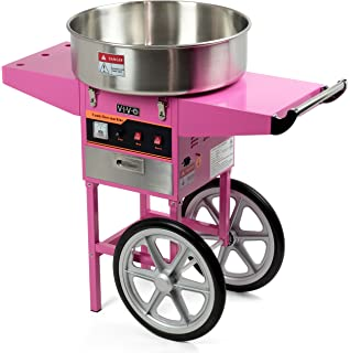 Electric Commercial Cotton Candy Machine Floss Maker Pink Cart Stand VIVO CANDY