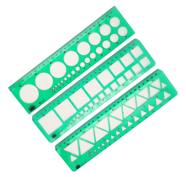 BBF 3 Pcs Drafting Tool Templates POP-UP 4336946421