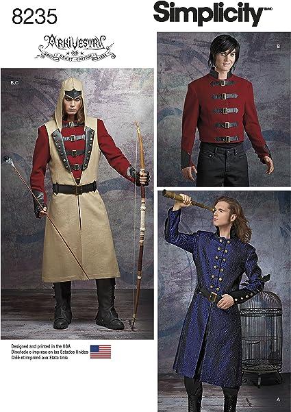 Shirt And Ve-38,40,42,44 Simplicity Mens Frock Coat