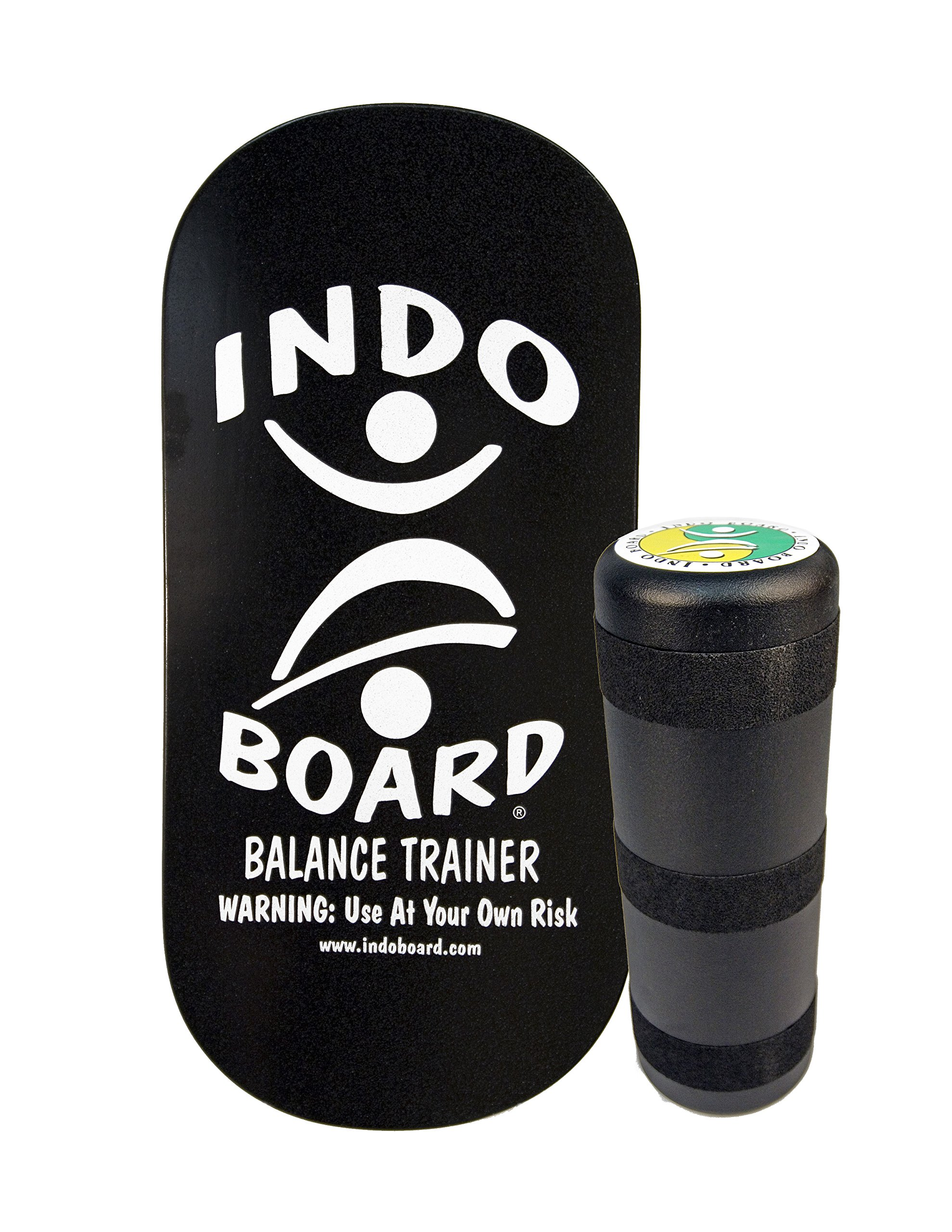 INDO BOARD Rocker 33'' X 16'' with 6.5'' Roller - High Performance Balance Board for Advanced Tricks - Black And Silver by INDO BOARD (Image #1)