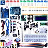 Quimat Arduino Kit,Professionnel Projet Kit de Démarrage le Plus Complet Mode d'emploi avec Guide d'utilisation Français pour Kit Arduino UNO R3 NANO