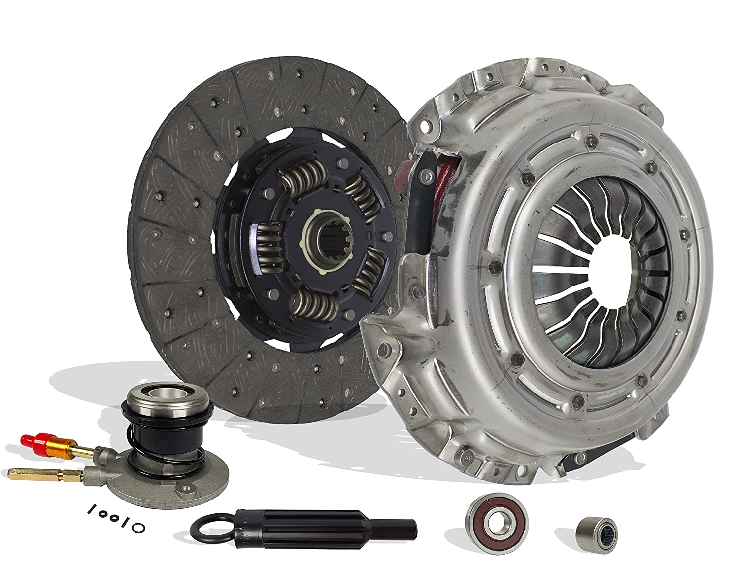 Clutch And Slave Kit Works With Chevy Silverado 1500 Gmc Sierra 1500 Base SL LS LT SLT SLE WT 1999-2002 4.3L V6 GAS OHV Naturally Aspirated (OD: 11; ...