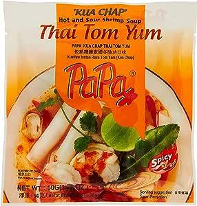 Papa Instant Kua Chap TomYum, 50g (Pack of 5)