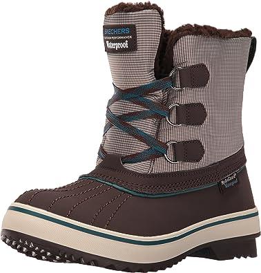 paracaídas arcilla lápiz  Amazon.com: Botas de nieve impermeables para mujer de Skechers: Shoes
