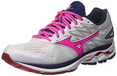 new styles a8e8f 2460d Mizuno Wave Rider (w), Chaussures de Running Femme, Multicolore (Whitepink  Globlueprint