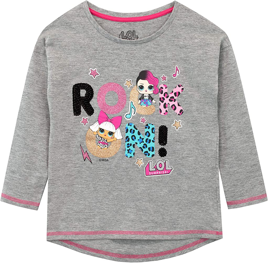 LOL Surprise Camiseta de Manga Larga para niñas Dolls Multicolor 5-6 Años: Amazon.es: Ropa y accesorios
