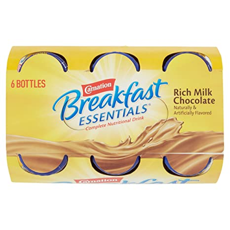 Amazon.com: PACK OF 6 - Carnation Breakfast Essentials Rich Milk Chocolate Complete Nutritional Drink, 8 fl oz, 6 count: Health & Personal Care