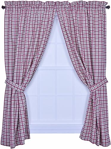Ellis Curtain Bristol Collection Two-Tone Plaid 68 Review