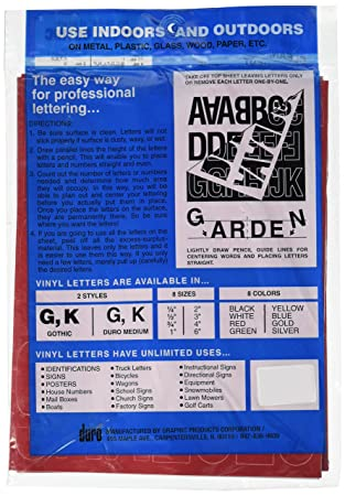 amazoncom duro decal permanent adhesive vinyl letters numbers 3 gothic white arts crafts sewing
