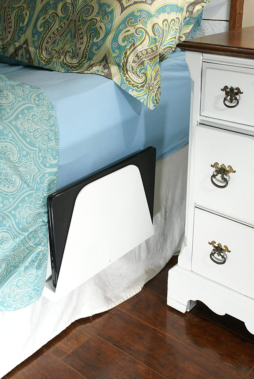Bedside Caddy, Laptop, Tablet or eReader storage, Computer stand, Magazine Rack, eReader holder, White