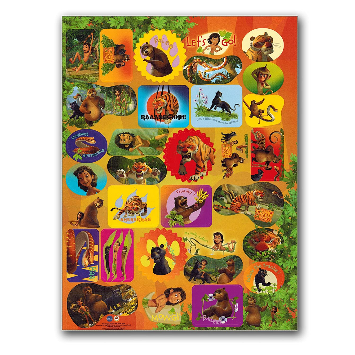 Jungle Book Coloring Book with Jungle Animals Stickers Giant 144 Pg Book, Jungle Book Party Supplies