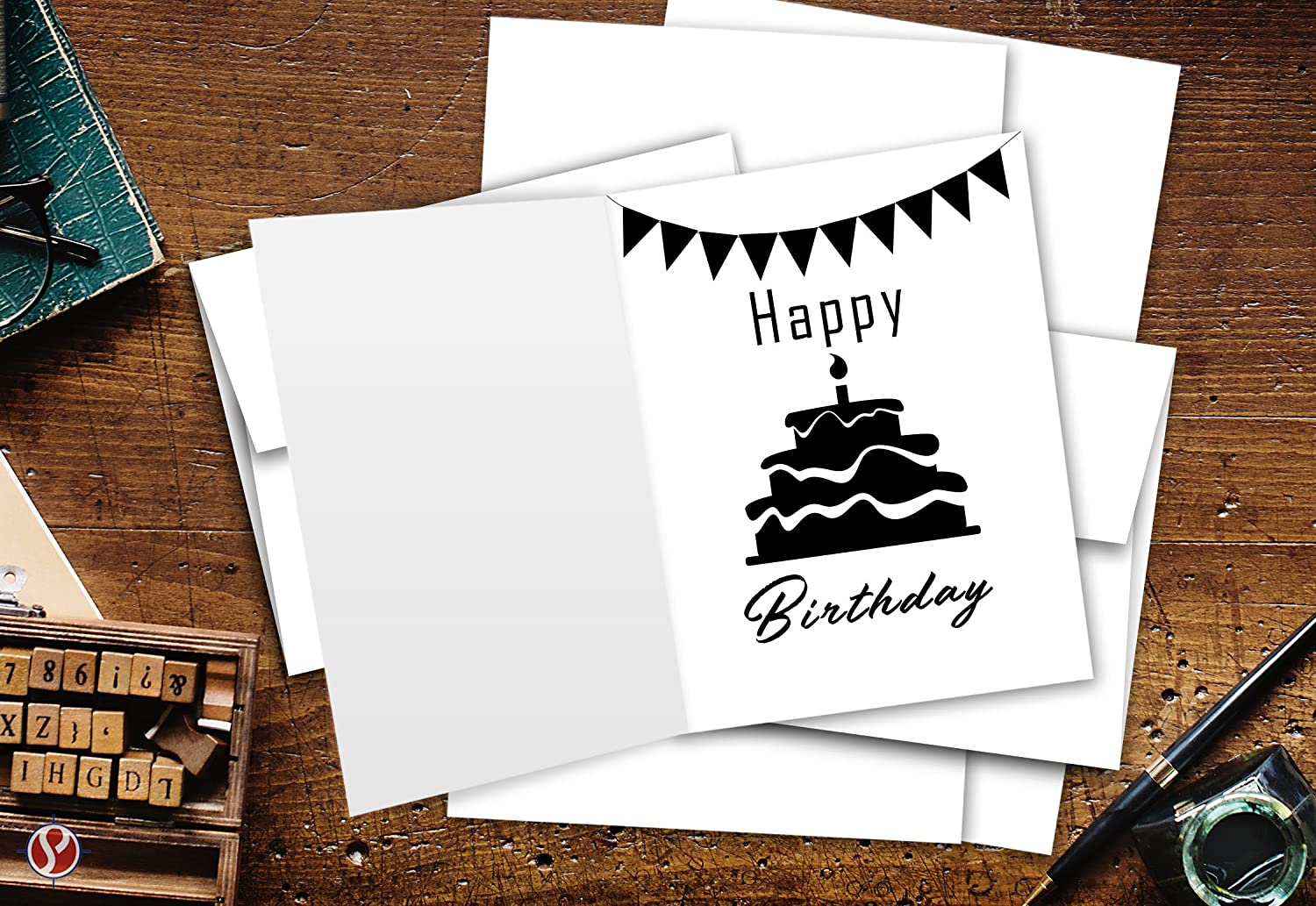 Invitations Bulk 50 Set Greeting Cards Set Gift Weddings /& All Occasion Invitation Letter Bridal Shower 4.25 x 5.5 Inches Blank White Cardstock /& Envelopes Perfect for Business Birthday