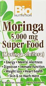 Bio Nutrition Moringa Super Food Vegi-Caps, 60 Count, 5,000 mg