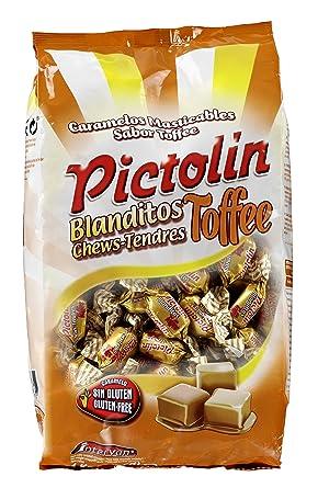 Pictolín Blanditos Tofee - Caramelos masticables sabor toffee - Bolsa de 1kg