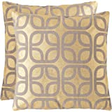 Safavieh Dec400B-2222-Set2 Cole Pillow, color Gold, pack of/paquete de 2