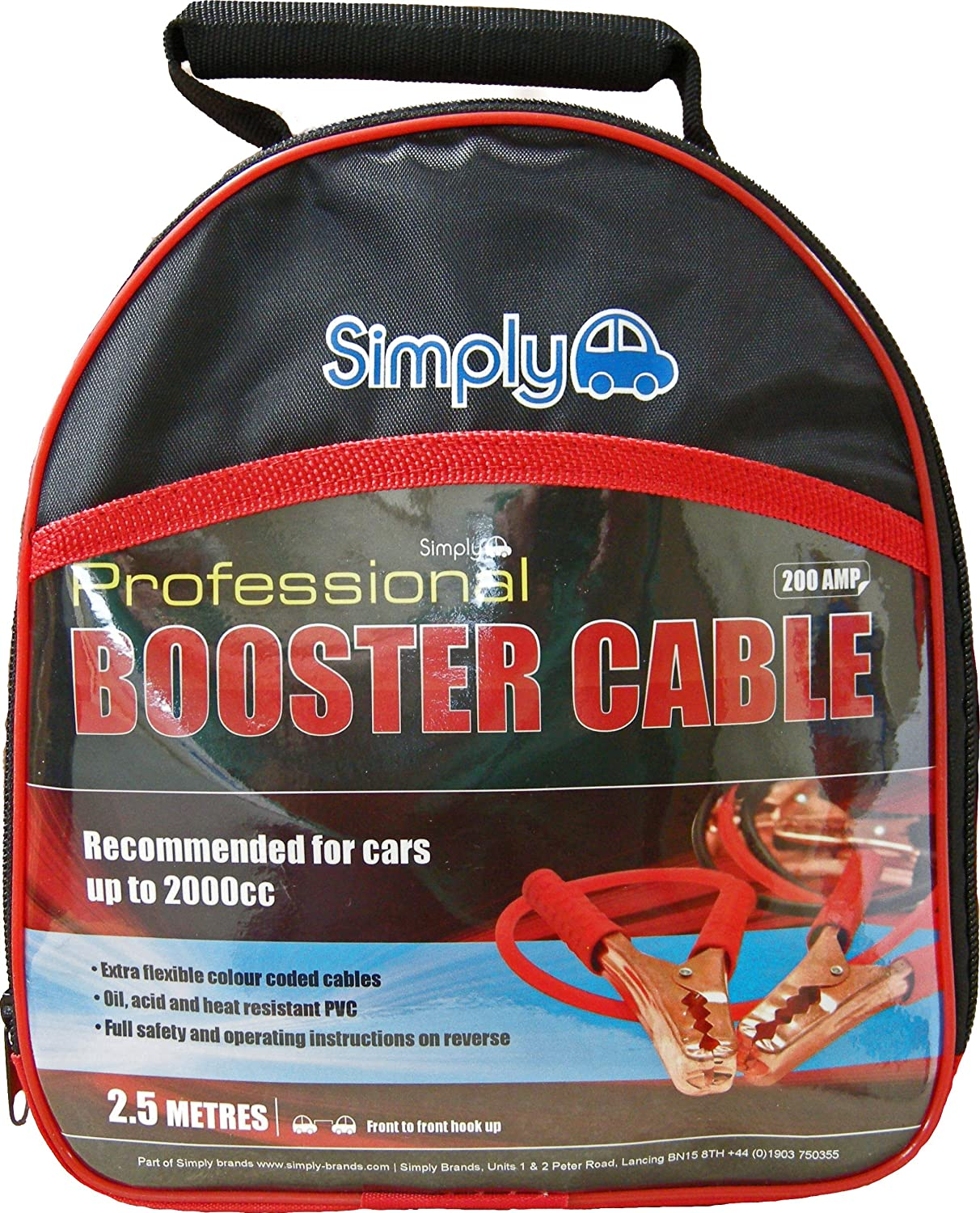 Simply SP200 professionnel Jump Leads//c/âble de Booster