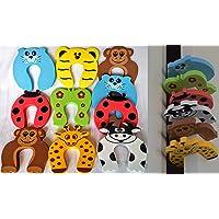 AZAMA 10pk Baby Safety Door Stopper   Children Cushion Colorful Animal Foam Finger Pinch Guard