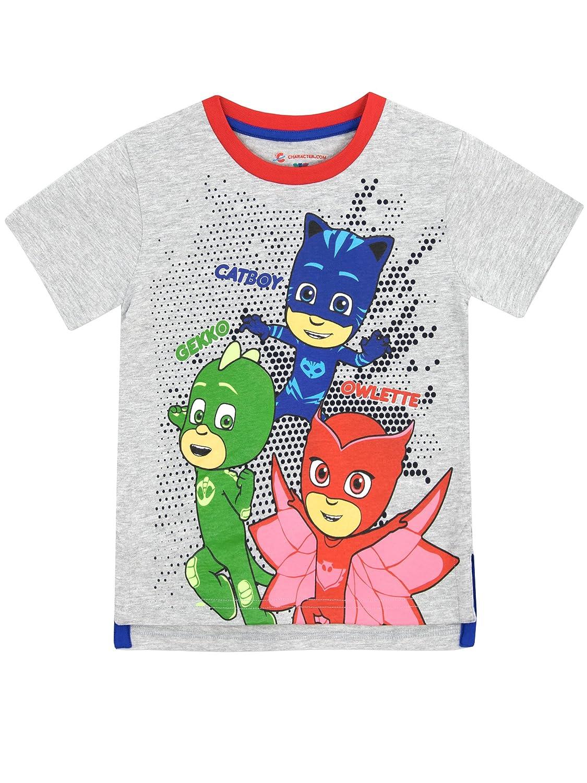 PJ Masks Boys' Catboy Owlette Gekko T-shirt