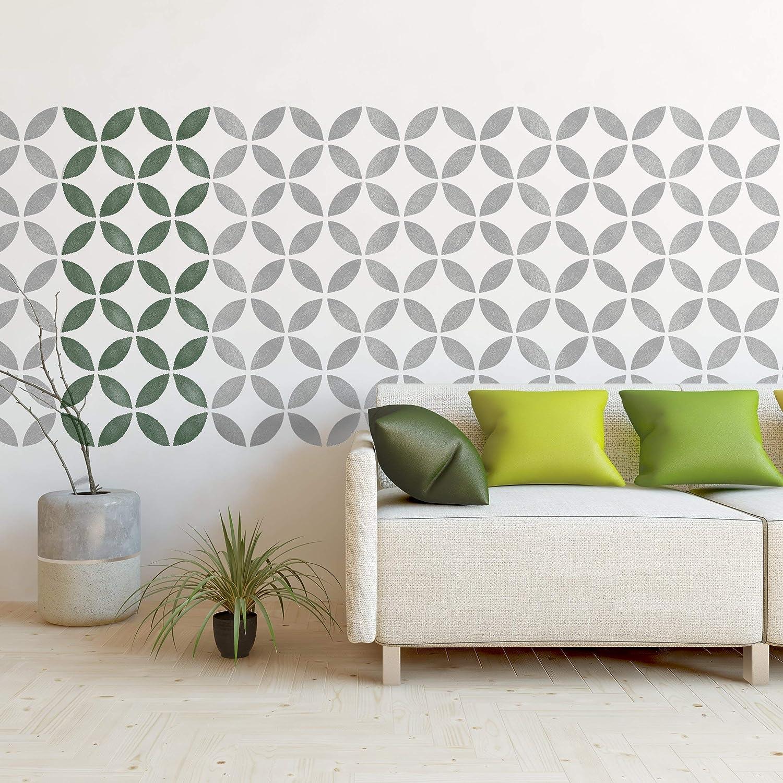 TSUNAGI AZULEJO Mobiliario Muro Piso Plantilla para pintar 30 cm