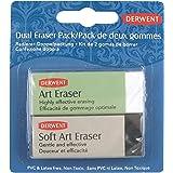 Derwent Art Eraser and Soft Art Eraser, Blister Pack, Professional Quality, 2301963