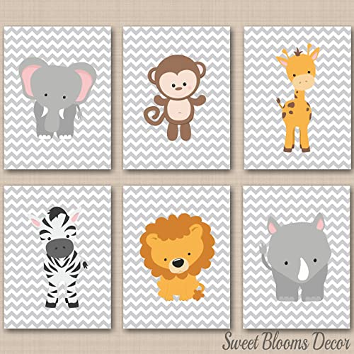 amazon com safari nursery wall art jungle animals zoo animals baby