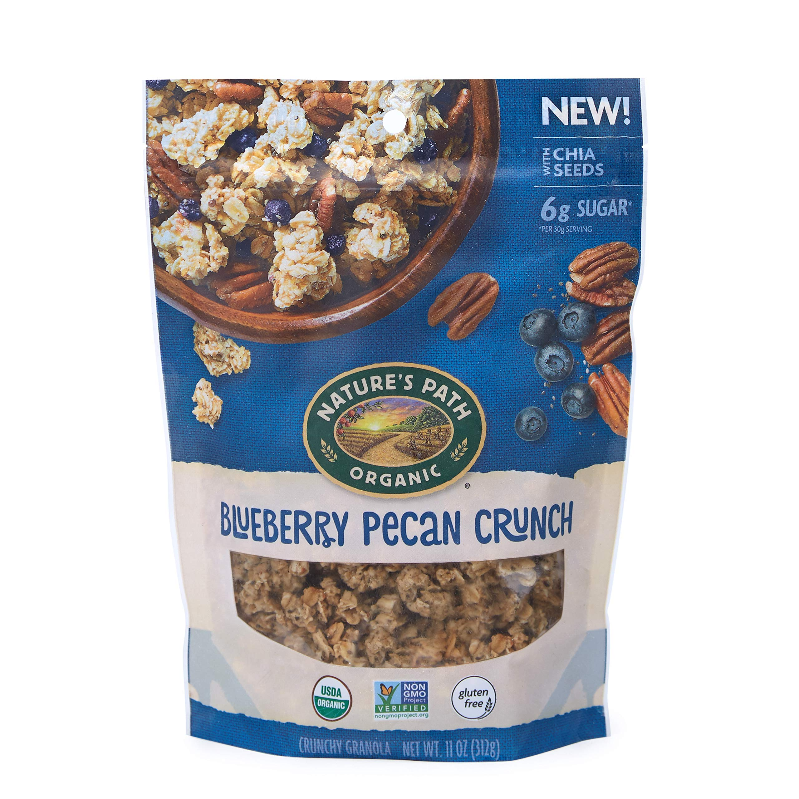 Nature's Path Blueberry Pecan Granola, Healthy, Organic, Gluten-Free, 11-Ounce Pouch (Pack of 8) by Nature's Path