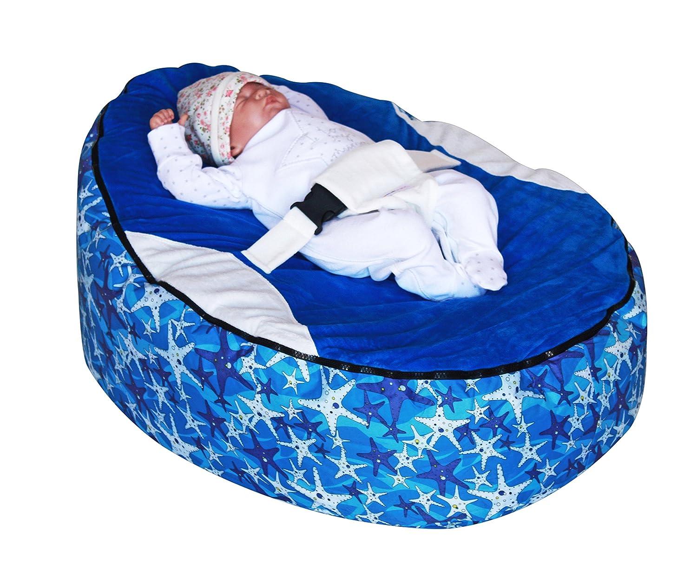 Bleu Seastar Pouf pour bébé avec garnissage Mama Baba