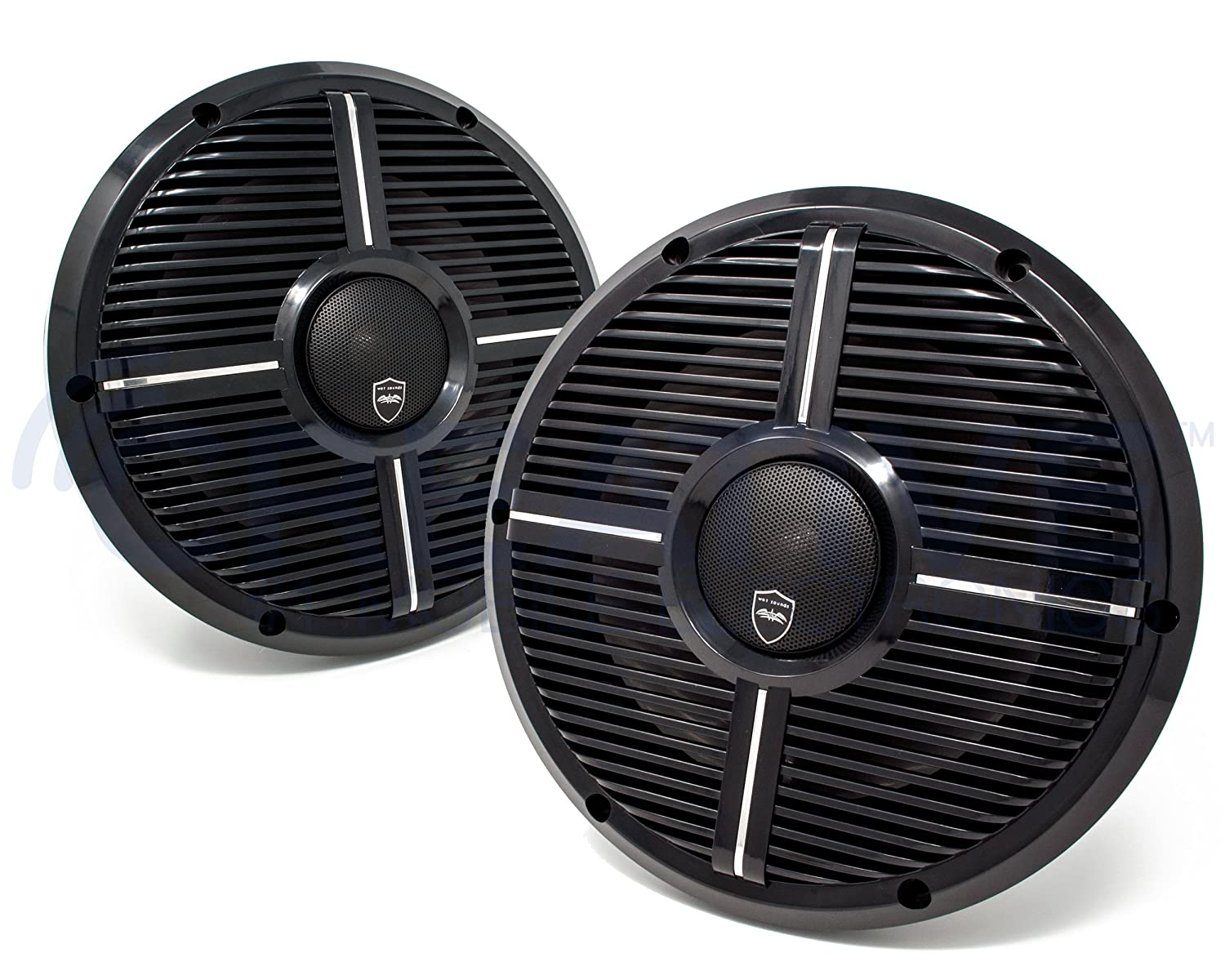 Amazon.com: Wet Sounds REVO CX-10 XW-B Black XW Grill 10 Inch Marine High Performance LED Coaxial Speakers (pair): Electronics